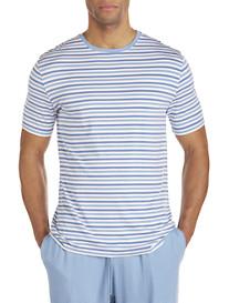 Derek Rose™ Modal® Jersey Stripe Crewneck Tee