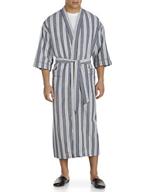 Majestic International® Stripe Seersucker Kimono Robe