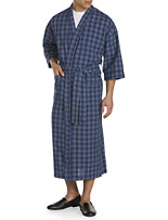 Majestic International® Plaid Seersucker Kimono Robe