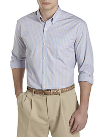 Cutter & Buck® Oceanview Stripe Poplin Sport Shirt