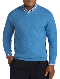 Cutter & Buck® Mitchell Textured V-Neck Sweater