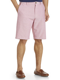 Cutter & Buck® Bristol Oxford Flat-Front Shorts