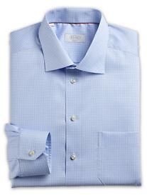 Eton® Herringbone-Weave Mini Gingham Dress Shirt