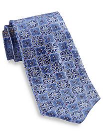 Robert Talbott Union Large Square Medallion Silk Tie