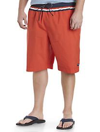 Tommy Hilfiger® Colorblock Stripe Swim Trunks