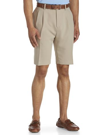 Cutter & Buck® Pleated Twill Microfiber Shorts - $85.00