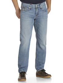 True Religion® Ricky Super T Straight Jeans with Red Stitching