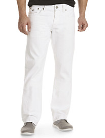 True Religion® White Ricky Straight Jeans