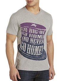 Robert Graham® Go Big or Go Home V-Neck Graphic Tee
