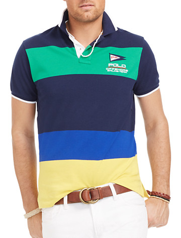 Polo Ralph Lauren® Yacht Racing Colorblock Stripe Mesh Polo | Polos