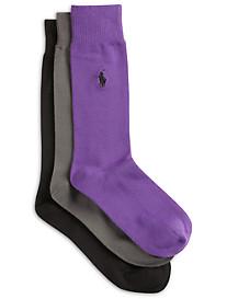 Polo Ralph Lauren® 3-pk Super-Soft Crew Socks