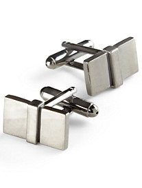 Link Up Gunmetal Rectangle Cuff Links