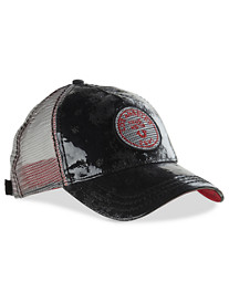 True Religion® Overprinted Denim Baseball Cap