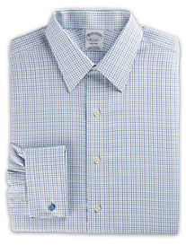 Brooks Brothers® Non-Iron Check French-Cuff Dress Shirt
