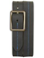 Lejon Contrast-Stitch Leather Belt