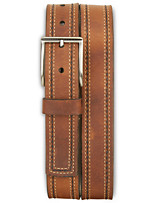 Lejon Contrast-Stitch Leather Belt