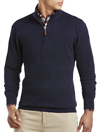 Brooks Brothers® Cotton/Cashmere Half-Zip Sweater