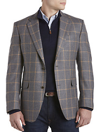 Tallia Orange Windowpane Sport Coat