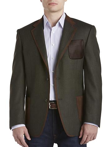 Tallia Orange Herringbone Wool Sport Coat (olive)