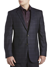 Jack Victor® Tonal Windowpane Wool Sport Coat