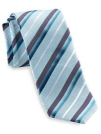 Andrew Fezza Textured Stripe Silk Tie