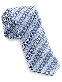 Andrew Fezza Square Grid Silk Tie