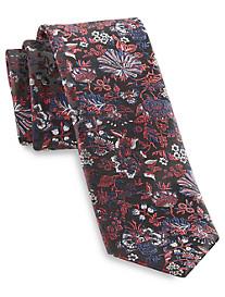 Andrew Fezza Black Floral Silk Tie