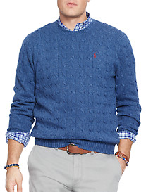 Polo Ralph Lauren® Cable-Knit Tussah Silk Sweater