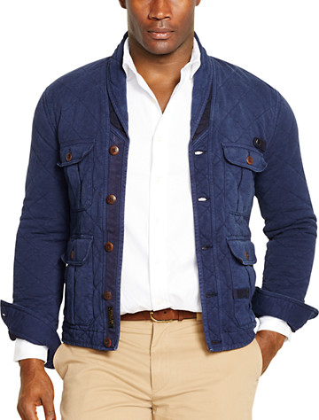 Big & Tall Polo Ralph Lauren® Quilted French Terry Shawl-Collar Cardigan D4370
