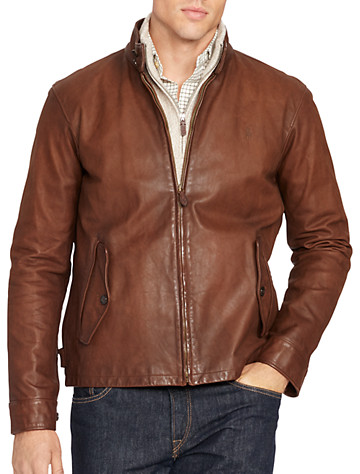 Polo Ralph Lauren® Leather Barracuda Jacket