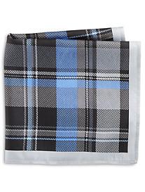 Rochester Paisley Stripe Silk Pocket Square
