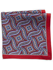 Rochester Large Diamond Silk Pocket Square