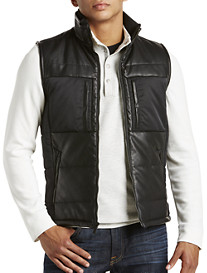 Calvin Klein Sport® Faux-Leather Quilted Vest