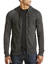 Calvin Klein Jeans® Marled Hooded Zip-Front Cardigan