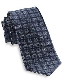 Rochester Floral Square Medallion Silk Tie