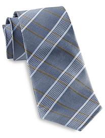 Rochester Stripe Plaid Silk Tie
