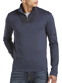 Michael Kors® Jersey Quarter-Zip Pullover with Nylon Trim