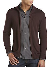 Michael Kors® Tipped Zip-Front Merino Wool Cardigan