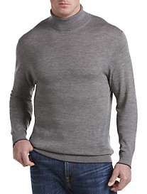 Michael Kors® Tipped Merino Wool Turtleneck