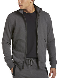 Michael Kors® Leather-Trim Knit Jacket
