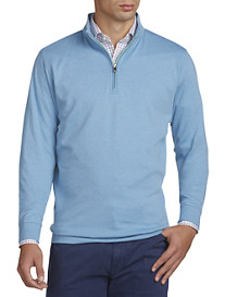 Peter Millar® Heather Interlock Quarter-Zip Pullover