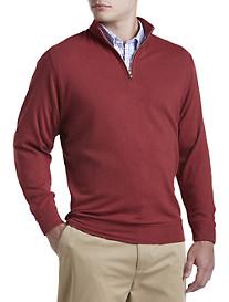 Peter Millar® Heather Interlock Quarter-Zip Pullover