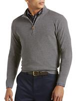 Brooks Brothers® Cotton/Cashmere Quarter-Zip Sweater