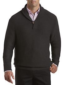 Rochester Novelty-Stitch Shawl-Collar Sweater