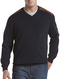 Society of One® Nubby Cotton V-Neck Sweater