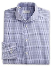 Eton® Brighton Owl-Print Poplin Dress Shirt