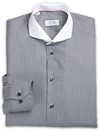 Eton® York White-Collar Stripe Twill Dress Shirt