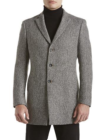 Tallia Orange Black & White Tweed Overcoat