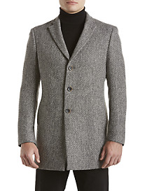 Tallia Orange Black & White Tweed Overcoat
