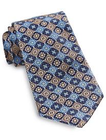 Robert Talbott Cooper Two-Tone Medallion Silk Tie